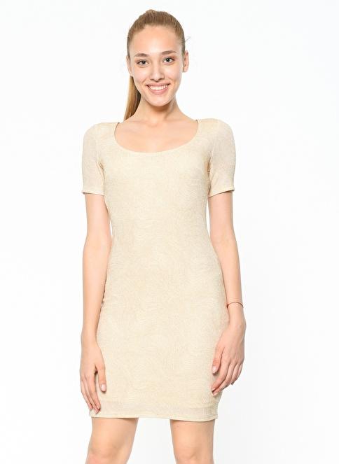 Koton Kalem Elbise Altın